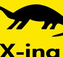 Dinosaur Crossing Sticker