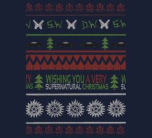 Supernatural Christmas Sweater One Piece - Long Sleeve
