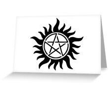 Anti Possession Supernatural Greeting Card