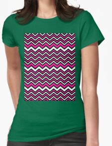 Retro Zig Zag Chevron Pattern Womens Fitted T-Shirt