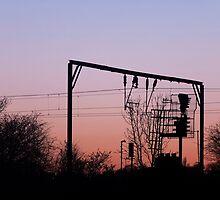 Sunset over Stoke-on-Trent train tracks by AJAY HERD
