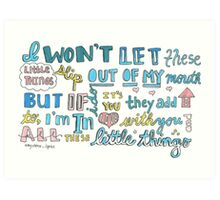 Little Things- One Direction Art Print
