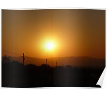 Sunset in the Magalies Burg Poster