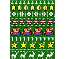 Super Mario 8-bit Ugly Christmas Photographic Print