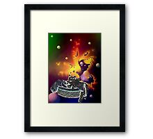 Cats in Space 2 Framed Print