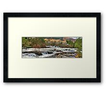 Dochart Falls Panorama Framed Print
