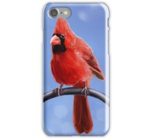 Merry Christmas - Red Cardinal iPhone Case/Skin