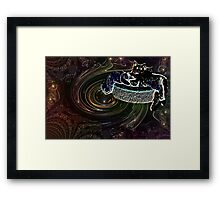 Cats in Space 5 Framed Print