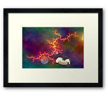 Cats in Space 6 Framed Print