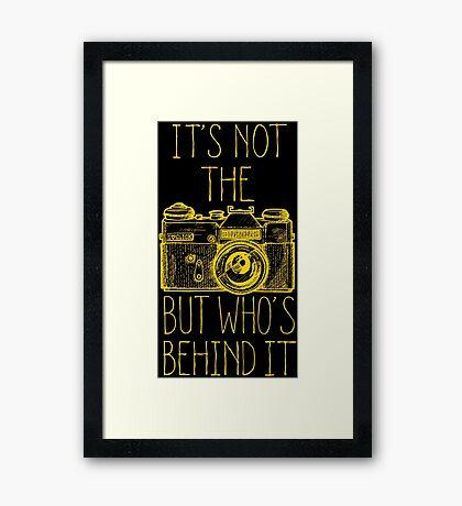 Camera yellow ink Framed Print