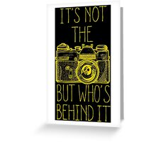 Camera yellow ink Greeting Card