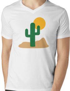 Cactus desert Mens V-Neck T-Shirt