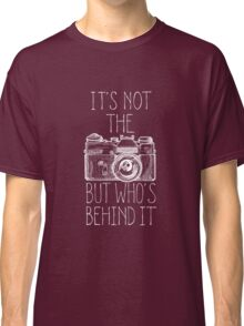 Camera white ink Classic T-Shirt