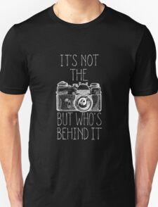 Camera white ink Unisex T-Shirt