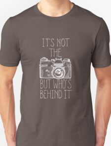Camera white ink T-Shirt