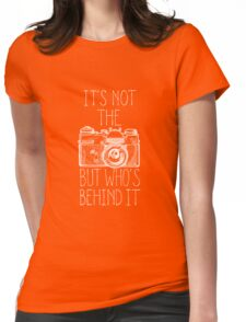 Camera white ink Womens Fitted T-Shirt