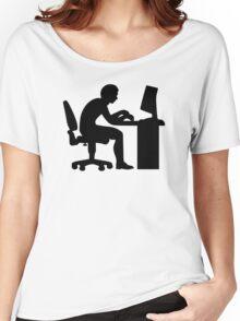 Office desk computer Women's Relaxed Fit T-Shirt