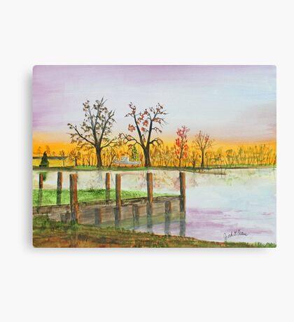 Landing Sunrise   140405 Canvas Print