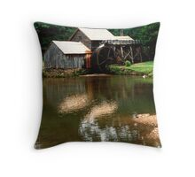 Blue Ridge Parkway Grist mill Throw Pillow