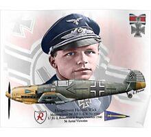 Hauptmann Helmut Wick Poster