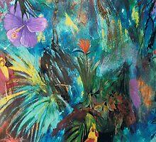 birds of paradise by Suellen Terry
