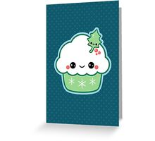 Cute Christmas Cupcake Greeting Card