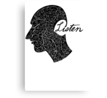 Listen/Music Lover Canvas Print