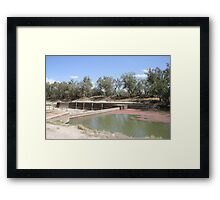 Bourke Weir During the big Drought. Framed Print