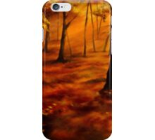 AUTUMN RED AND GOLD iPhone Case/Skin