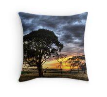 Sunset near Lake Burrumbeet  Throw Pillow