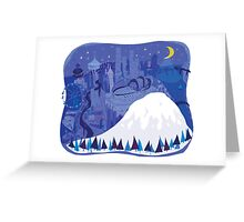 Seattle Cityscape with Mt. Rainier by Wendy Wahman Greeting Card