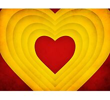 Red and yellow hearts Photographic Print