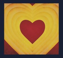 Red and yellow hearts Kids Clothes