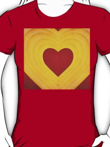 Red and yellow hearts T-Shirt