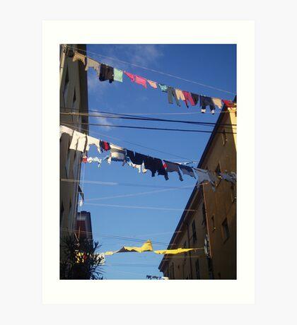Washing Day, Italy,  Art Print
