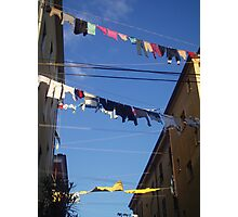 Washing Day, Italy,  Photographic Print