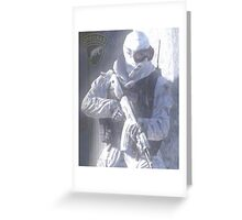 Spetsnaz - Snow Leopard Greeting Card
