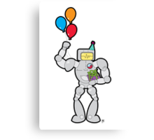 RadRobot Birthday Canvas Print