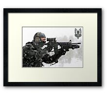 S.A.S. Warrior Framed Print