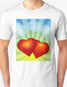 Red hearts Unisex T-Shirt