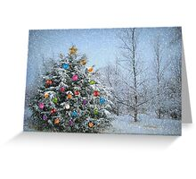 Decorated Winter Greeting Card