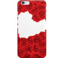 Red roses in a heart shape iPhone Case/Skin