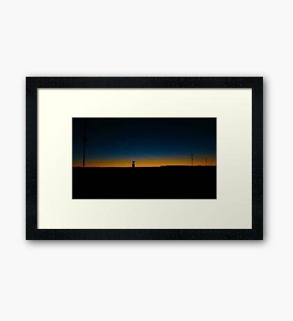 Sunset on the tracks  Framed Print