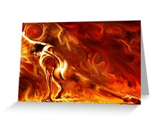 Playing With Fire Greeting Card