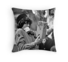 At  Sixes and Sevens Throw Pillow