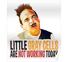 Hercule Poirot! little gray cells are not working today. Poster