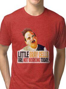 Hercule Poirot! little gray cells are not working today. Tri-blend T-Shirt