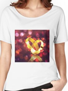 Romantic background with wedding rings Women's Relaxed Fit T-Shirt