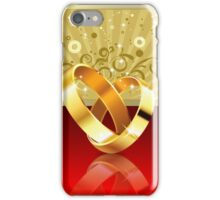 Romantic background with wedding rings 2 iPhone Case/Skin