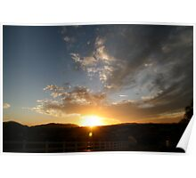Sunset over Temecula Poster